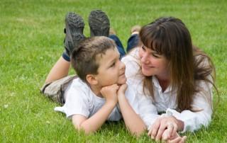 ADHD boy and mom neurofeedback
